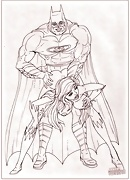Batman and Posion Ivy porn in sketches