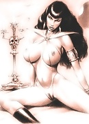Vampirella was penetrated by Guy's dick